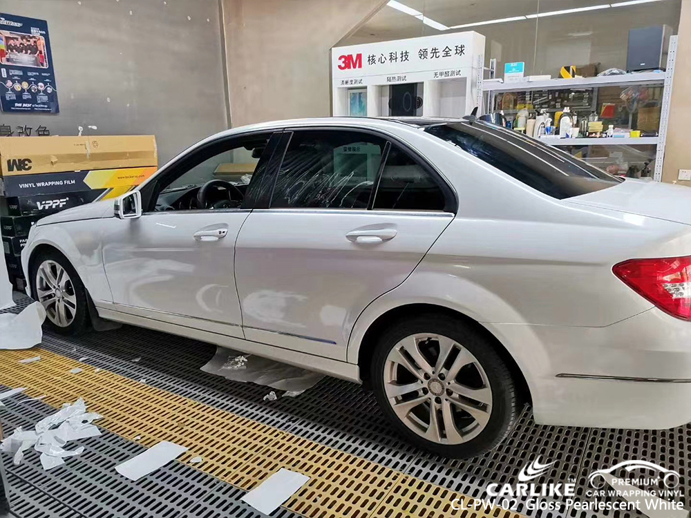 CL-PW-02 gloss pearlescent white vinyl wrap gloss for MERCEDES-BENZ Elazig Turkey