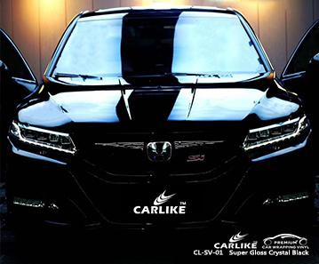 CL-SV-01 super gloss crystal black high gloss vinyl wrap for HONDA Sivas Turkey
