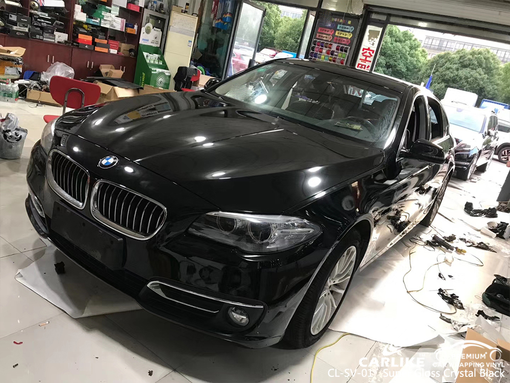 CL-SV-01 super gloss crystal black car wrap film for BMW Kutahya Turkey