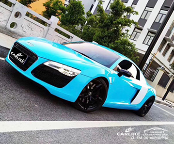 CL-SV-22 super gloss crystal medium blue vinyl material suppliers for AUDI Canakkale Turkey