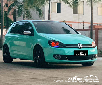 CL-SV-25 super gloss crystal tiffany green wrap my car for VOLKSWAGEN Agri Turkey