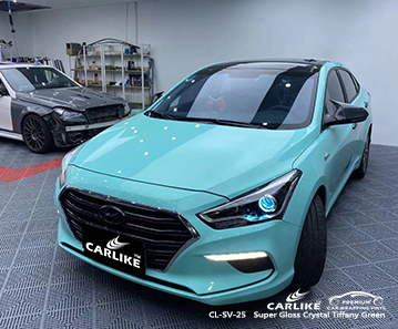 CL-SV-25 super gloss crystal tiffany green car wrapping foil for BEIJING HYUNDAI Isparta Turkey