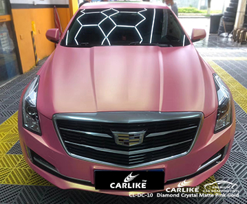 CL-DC-10 diamond crystal matte pink gold high gloss vinyl wrap for CADILLAC Limpopo South Africa
