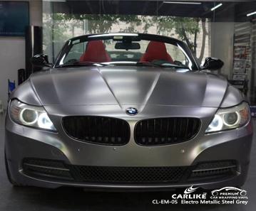 CL-EM-05 rivestimento per auto in vinile grigio acciaio elettro metallizzato opaco per BMW Labuan Territorio federale della Malesia