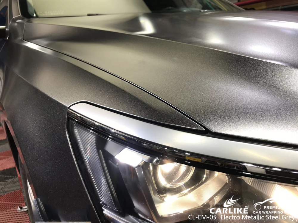 CL-EM-05 electro metallic steel grey car wrap film for VOLKSWAGEN Putrajaya Malaysia