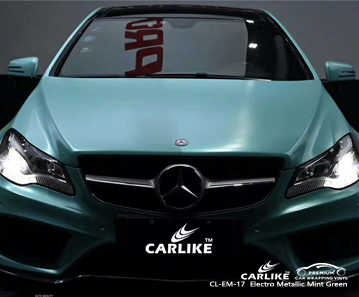 CL-EM-17 electro metallic mint green body wrap car supplier for MERCEDES-BENZ Kedah Malaysia