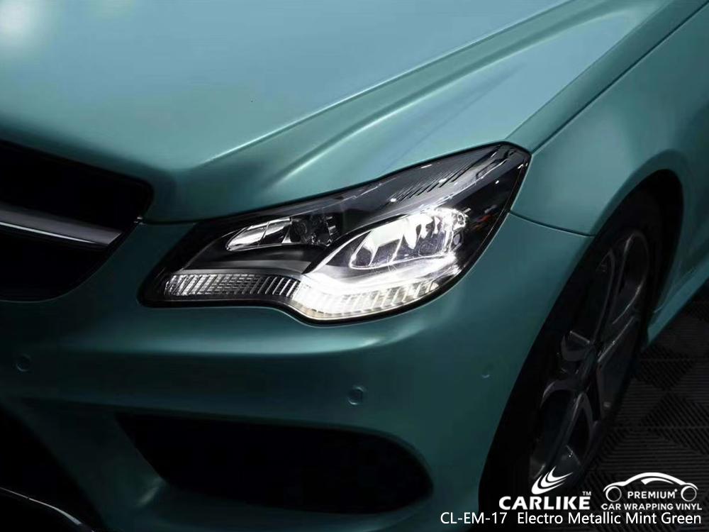 CL-EM-17 electro metallic mint green body wrap car supplier for MERCEDES-BENZ Kedah Malaysia