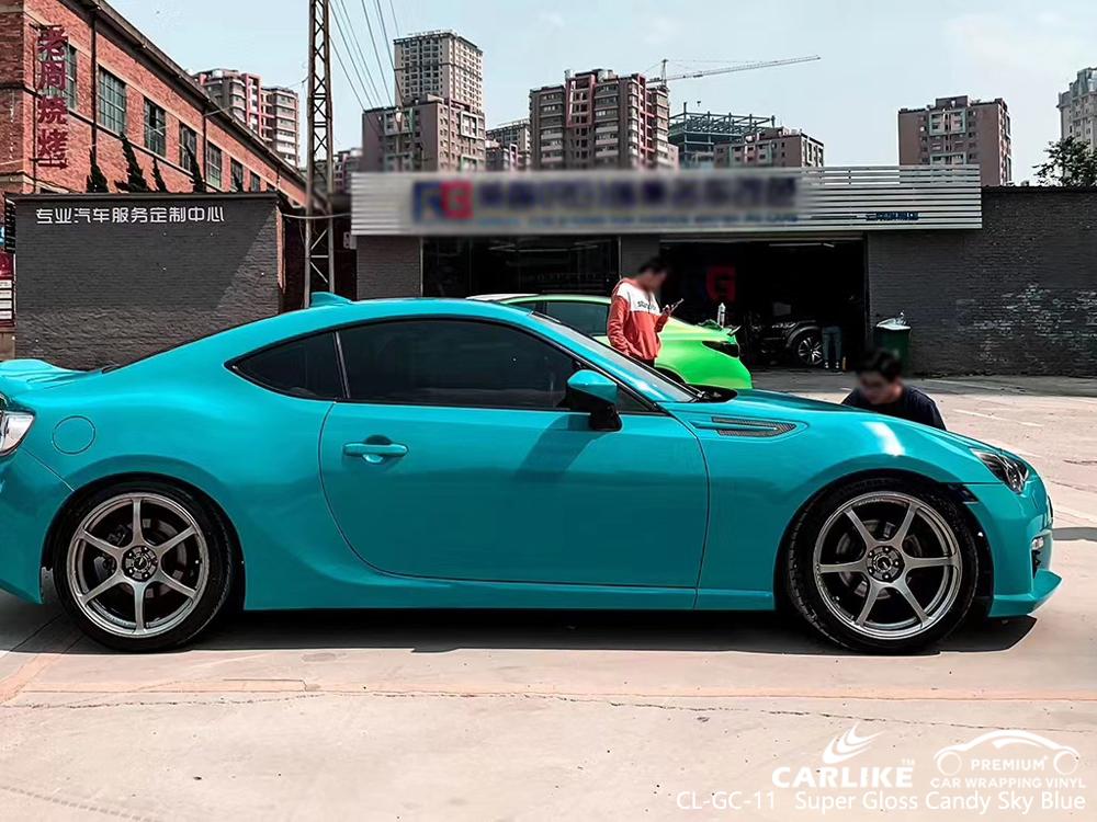 CL-GC-11 super gloss candy sky blue car foil for SUBARU Terengganu Malaysia