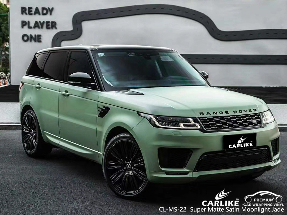 CL-MS-22 super matte satin moonlight jade vinyl matte car wrap for RANGE ROVER Pahang Malaysia