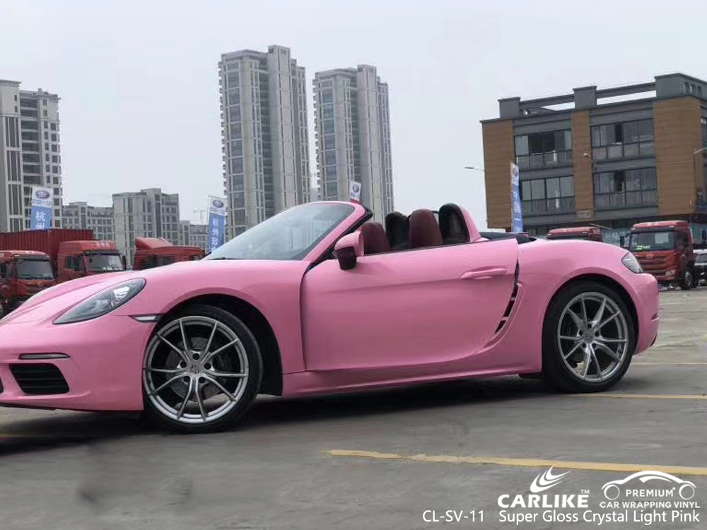 CL-SV-11 super gloss crystal light pink wrap my car for PORSCHE Malacca Malaysia