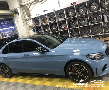 CL-SV-23 super gloss crystal turquoise blue wrap vinyl for MERCEDES-BENZ Sabah Malaysia