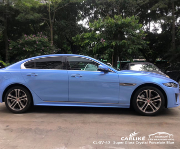 JAGUAR Sarawak Malezya için CL-SV-40 süper parlak kristal porselen mavi araba sarma