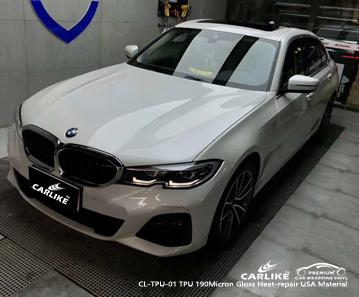CL-TPU-01 tpu 190micron gloss heat-repair vehicle vinyl wrap for BMW Johor Malaysia
