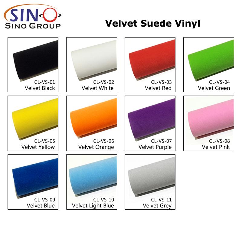 Velvet Suede Fabric Sticker Car Interior Covering Vinyl Film