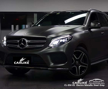 CL-EM-05 electro metallic steel grey vinyl wrapping for MERCEDES-BENZ Baden-Wurttemberg Germany