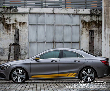 CL-EM-05 electro metallic steel grey vinyl matte car wrap for MERCEDES-BENZ Hesse Germany