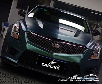 CL-EM-22 electro metallic stone green vinyl films for CADILLAC Thuringia Germany