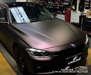 CL-EM-43 electro metallic black purple car foil for BMW North Rhine-Westphalia Germany