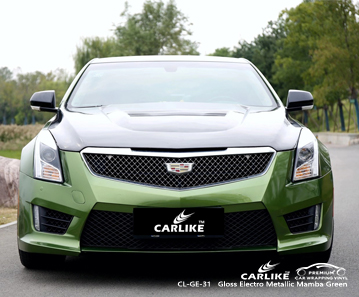 CL-GE-31 gloss electro metallic mamba green vinyl sticker paper for CADILLAC Occitanie France