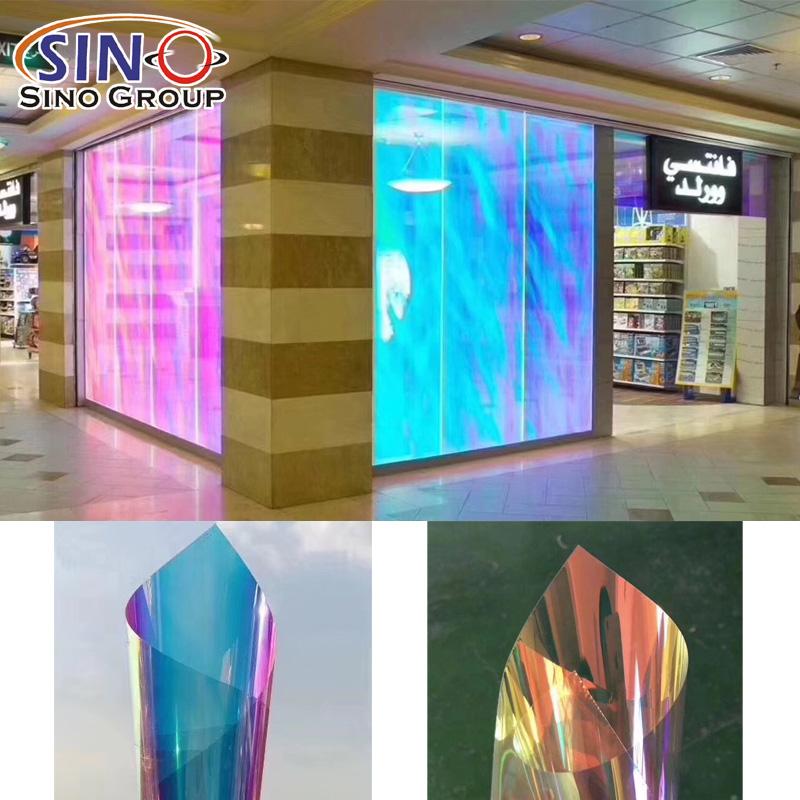 Regenbogen bunte Fensterglasdekorationsfilm