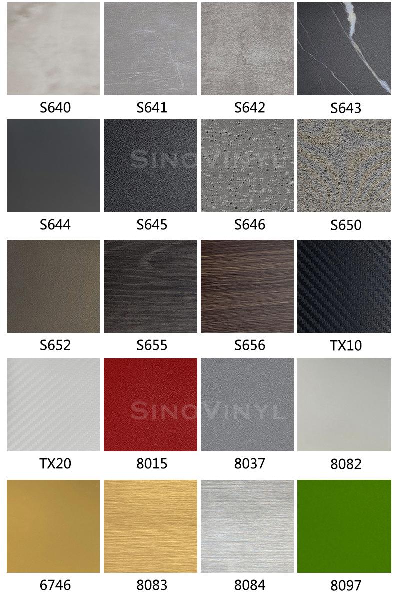 PVC Wood Grain Texture Decoration Self Adhesive Vinyl Film