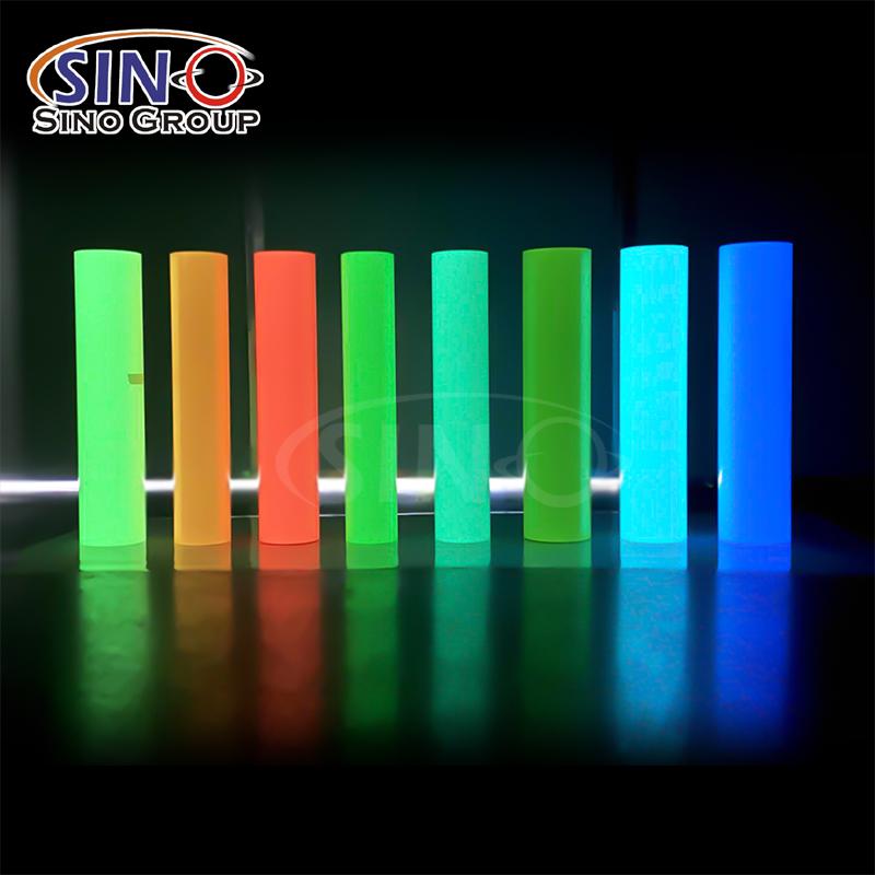 Photolumineszierendes Glühen im Dunkeln Wärmeübertragungs vinyl textil