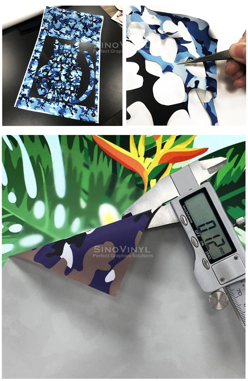 Camouflage Heat Transfer Vinyl Textile HTV for T-shirt