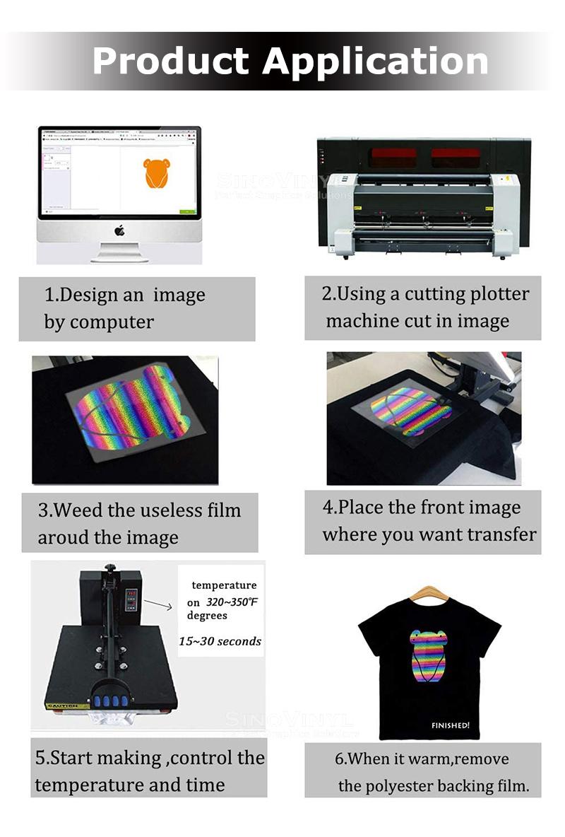 Camouflage Heat Transfer Vinyl Textile HTV T-shirt