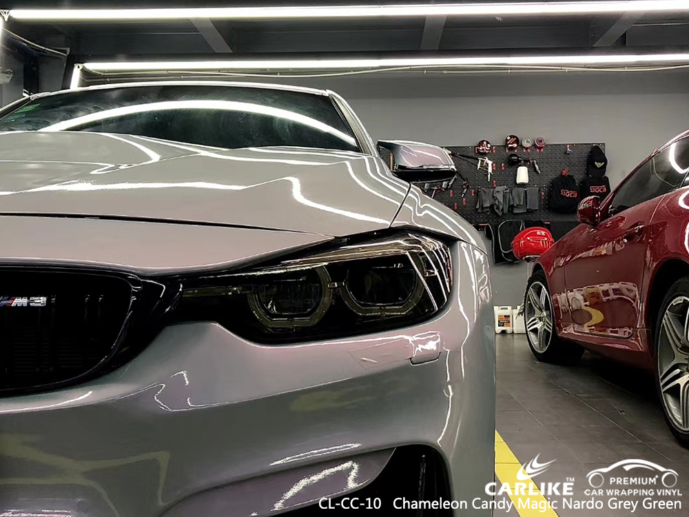 CL-CC-10 chameleon candy magic nardo grey green vinyl wrap gloss for BMW Ohio United States