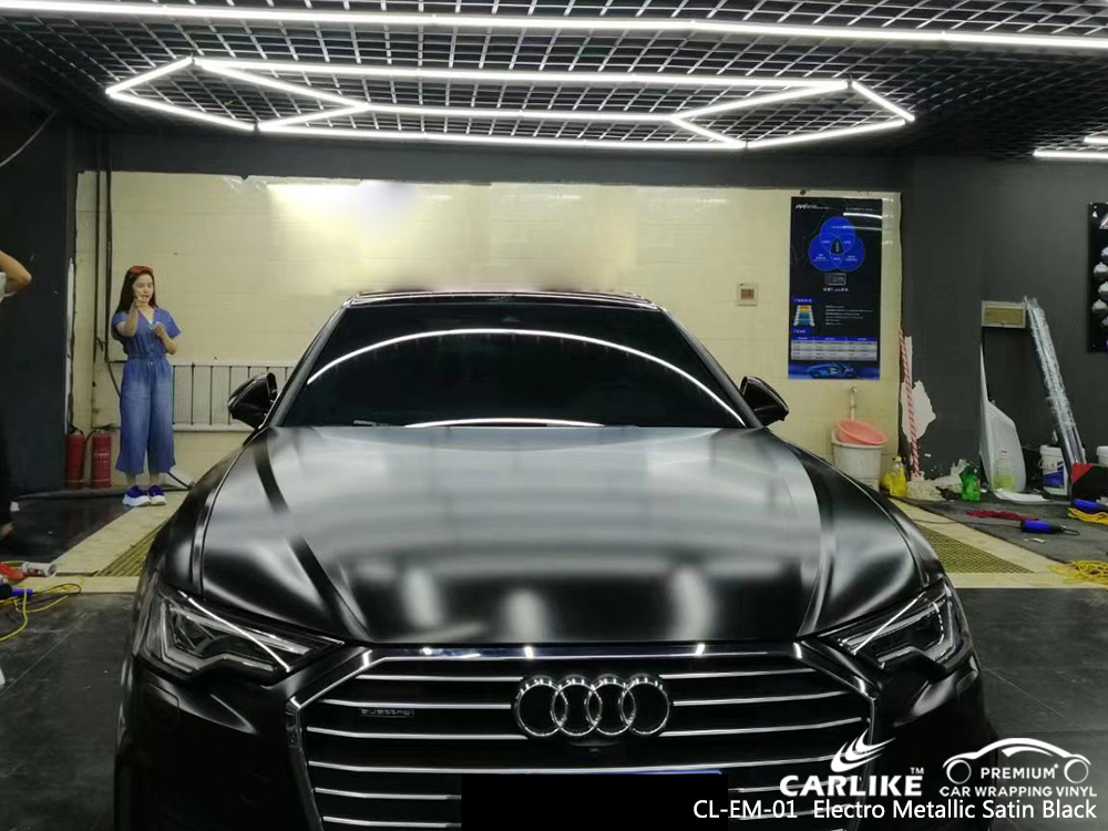 CL-EM-01 electro metallic satin black wrap car black matt for AUDI Illinois United States