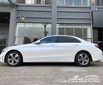 CL-EM-02 electro metallic pearl white car wrap film for MERCEDES-BENZ Drenthe Netherlands
