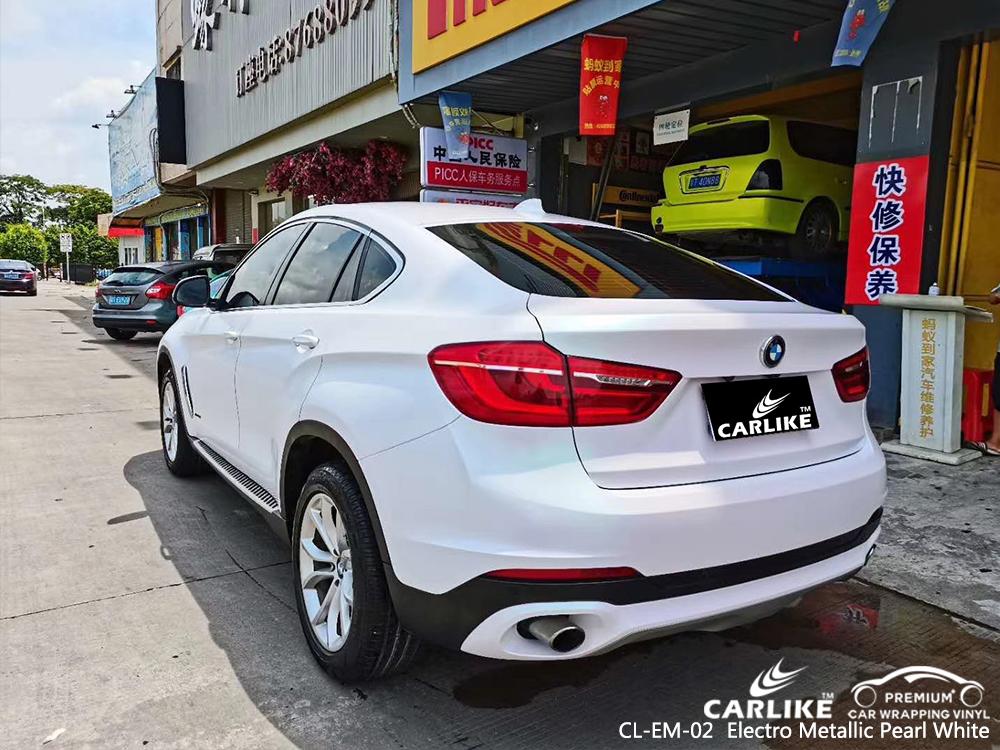 CL-EM-02 electro metallic pearl white car wrap vinyl matte for BMW California United States