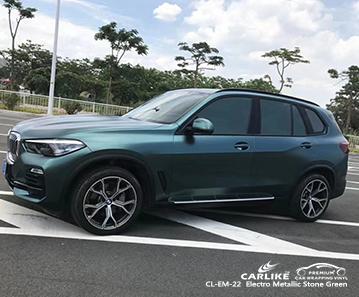 Envoltura de vehículos autobike verde piedra electro metalizada CL-EM-22 para BMW Tennessee Estados Unidos