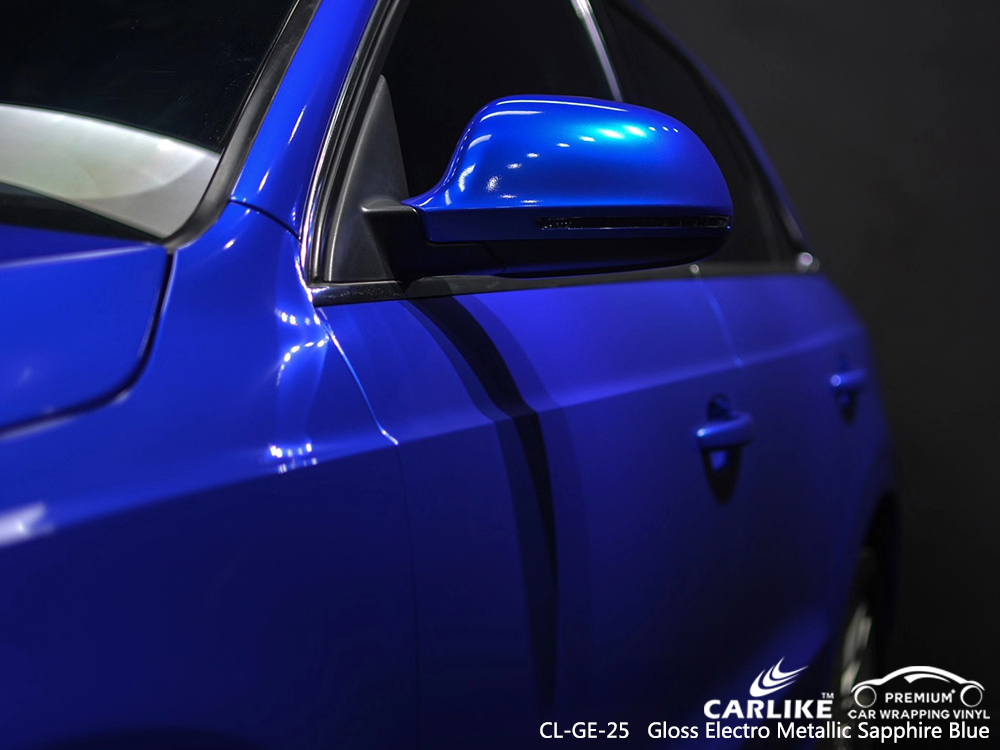 CL-GE-25 gloss electro metallic sapphire blue wrap my car for AUDI Oregon United States