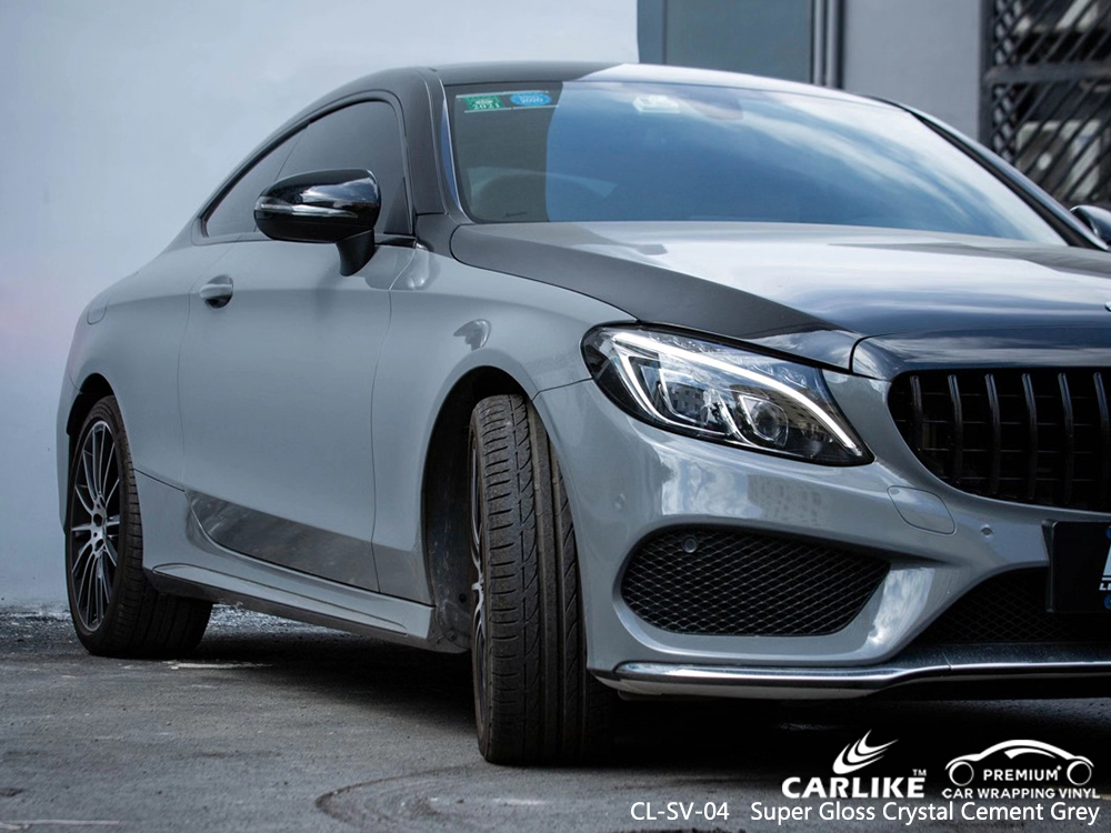 CL-SV-04 super gloss crystal cement grey motorcycle car foil for MERCEDES-BENZ New Jersey United States