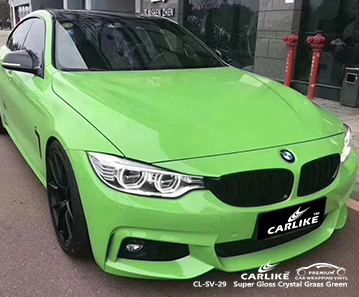 CL-SV-29 fornitore di auto avvolgente per carrozzeria in cristallo verde erba super lucido per BMW Washington Stati Uniti