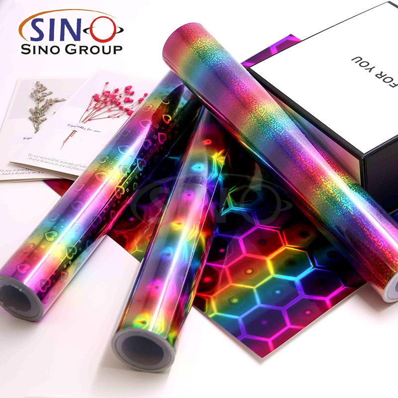 Holographischer laser metallisch handwerksschnitt vinylfolie