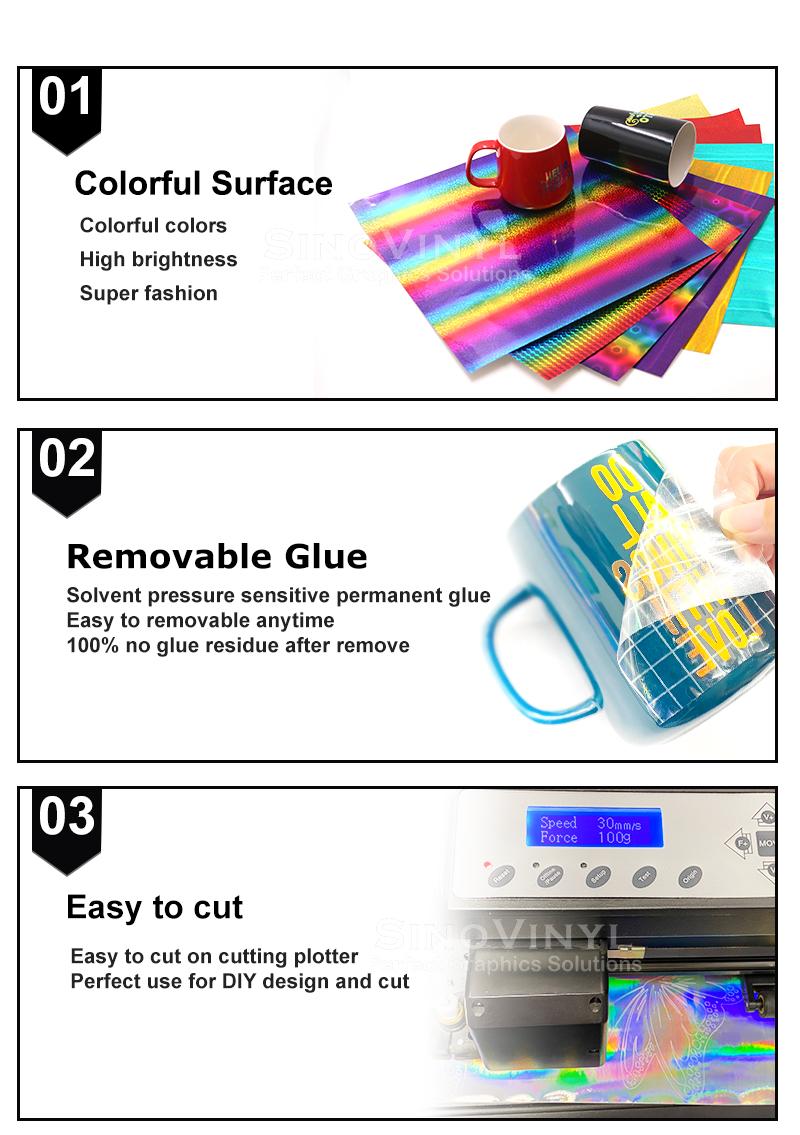 Holographic Bubble Cricut Cutting DIY Craft Vinyl