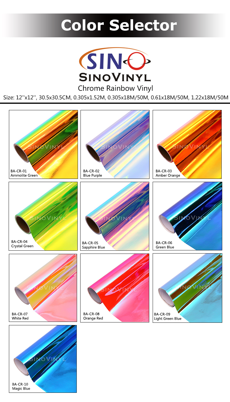 New Arrival : Chrome Rainbow DIY Craft Vinyl