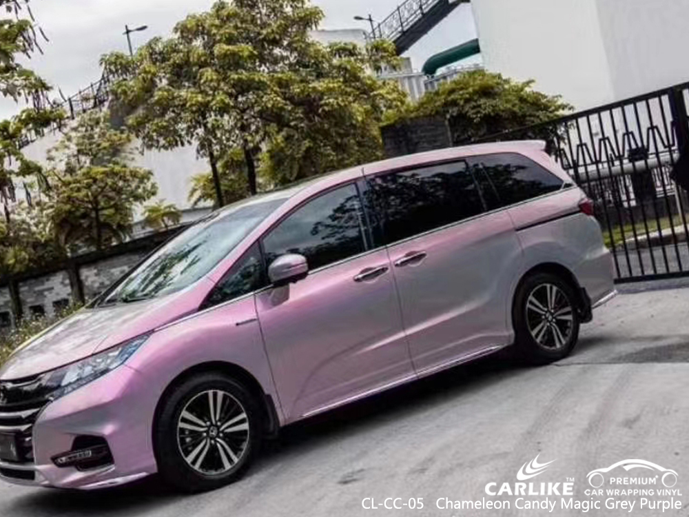 CL-CC-05 chameleon candy magic grey purple car wrapping foil for HONDA Idaho United States
