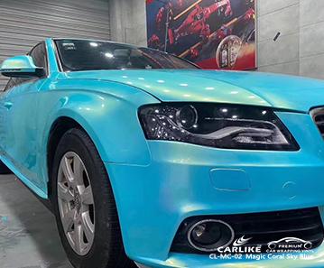 Película de envoltura de coche azul cielo mágico coral CL-MC-02 para AUDI Carolina del Sur Estados Unidos