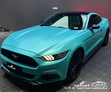 CL-SV-20 super gloss crystal ice blue body wrap car supplier for FORD MUSTANG North Dakota United States