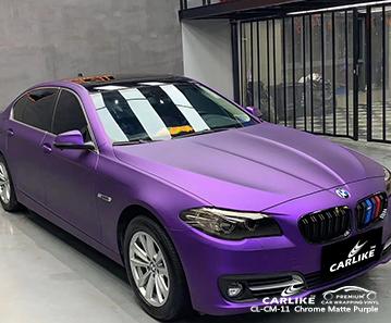 Revestimiento de vehículo violeta mate cromado CL-CM-11 para BMW Atlanta Estados Unidos