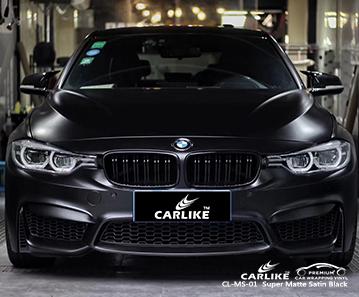 Envoltura de vinilo negro satinado supermate CL-MS-01 para BMW Springfield Estados Unidos