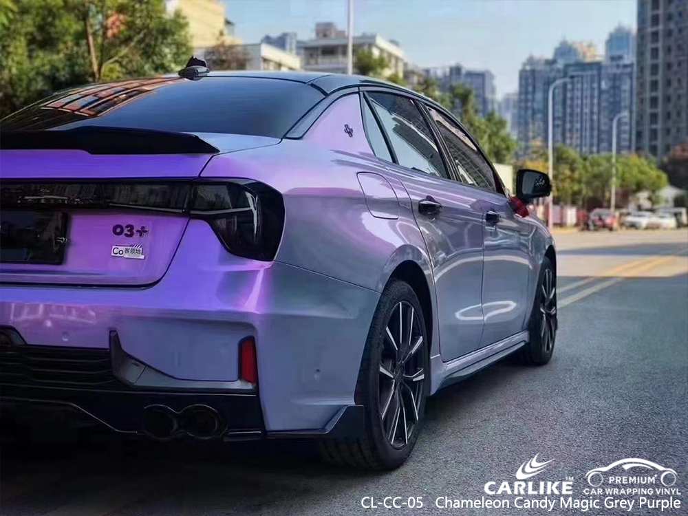 CL-CC-05 chameleon candy magic grey purple wrap my car for LYNK&CO Lipa Philippines