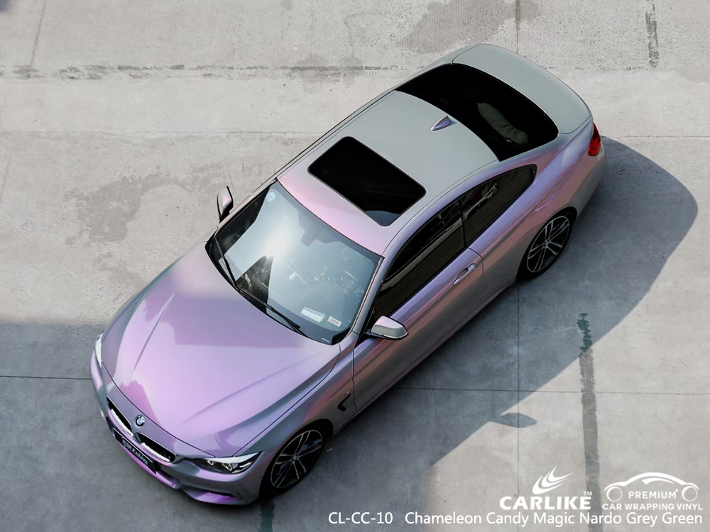 CL-CC-10 chameleon candy magic nardo grey green vehicle wrapping for BMW Batangas Philippines