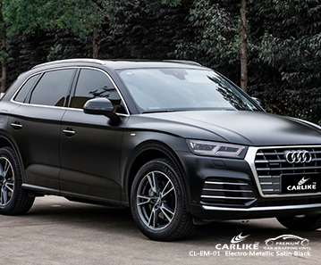 AUDI Las Pinas Filipinler için CL-EM-01 elektro metalik saten siyah araba sarma