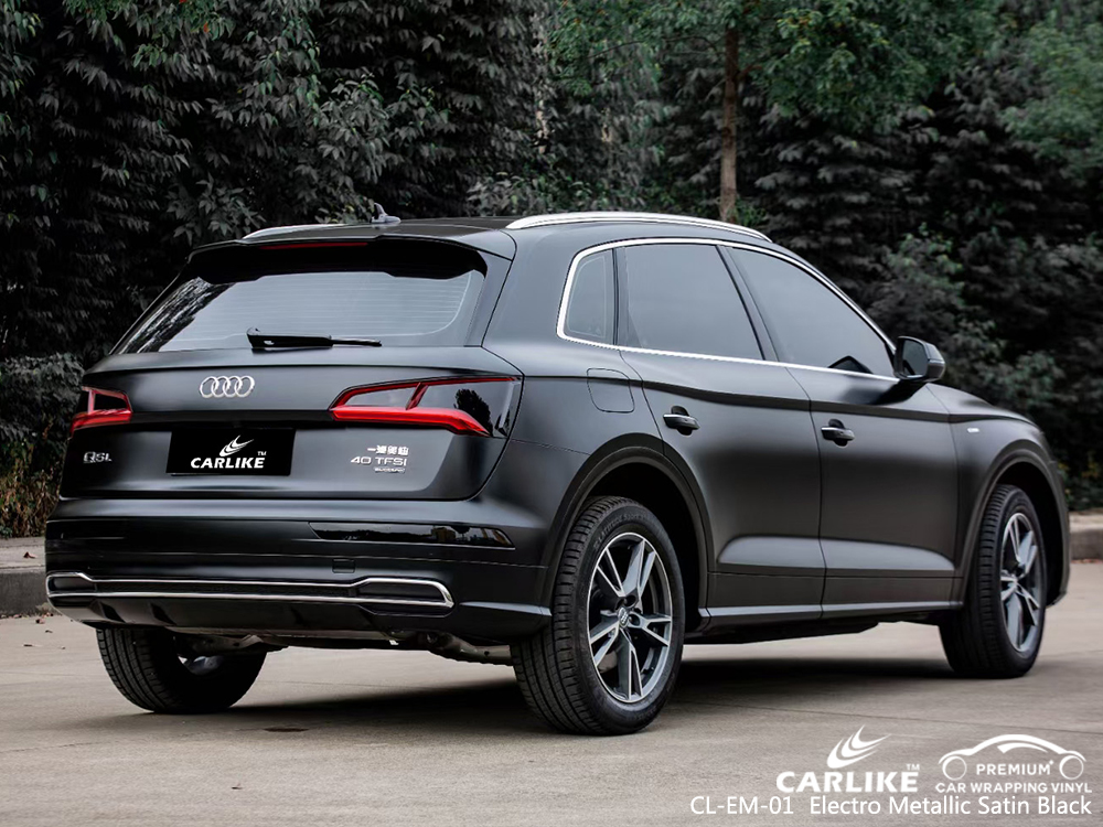 CL-EM-01 electro metallic satin black car wrapping for AUDI Las Pinas Philippines