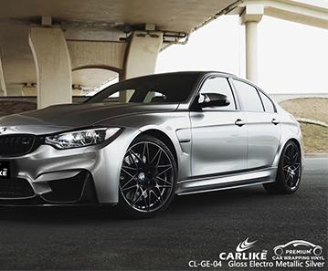 CL-GE-04 plateado electro metálico brillante envuelve mi coche para BMW Naga Filipinas