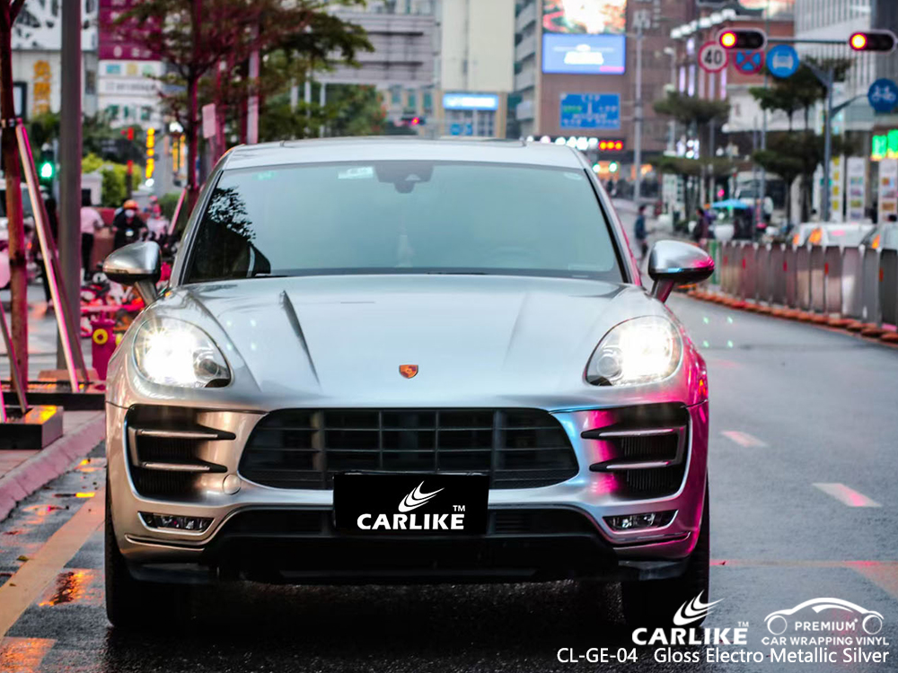 CL-GE-04 gloss electro metallic silver vinyl films for PORSCHE Legazpi Philippines